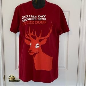 Red Stag Jim Beam T Shirt Game Day Bros b4 Does LG